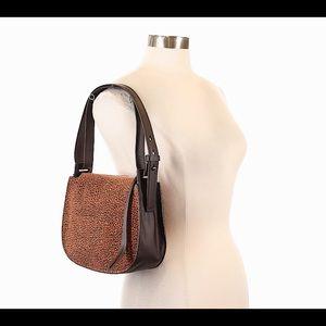 ALL SAINTS mini echo hobo suede leather purse NWT